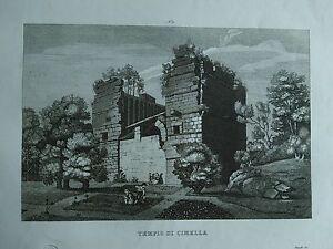 1845 Zuccagni-Orlandini Veduta del Tempio di Cimella