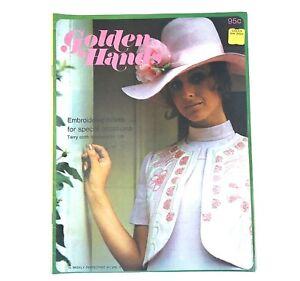 1972-Golden-Hands-Craft-Knitting-Sewing-Crochet-Pattern-Fashion-Vintage-Magazine