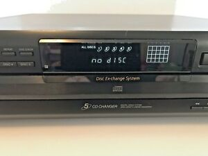 Sony-CDP-CE315-Carousel-CD-Changer-Player-5-Disc-Rotating-Tray-Tested-Used