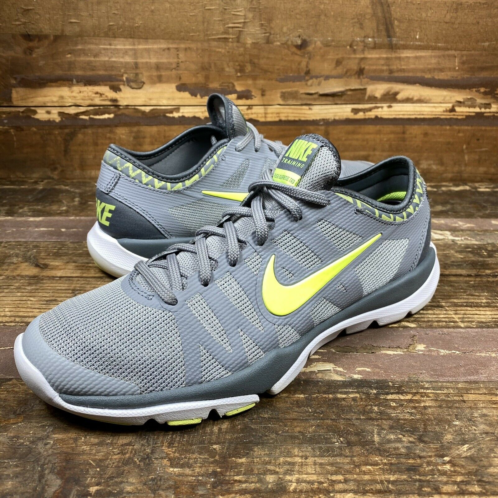Pareja Oscurecer Apuesta  Nike Womens Flex Supreme TR 3 Grey Athletic Shoes. Size 8.5 Style 683138  005 for sale online   eBay