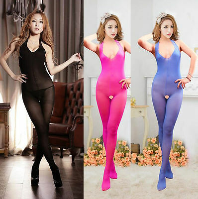 Fashion Womens Lady Sexy Lingerie Body Silk Stocking Bodysuit Stockings