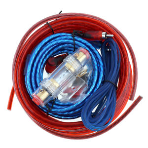 1500w car amplifier wiring kit audio subwoofer amp rca power cable rh ebay com Car Subwoofer Wiring Kit Car Subwoofer Wiring Kit