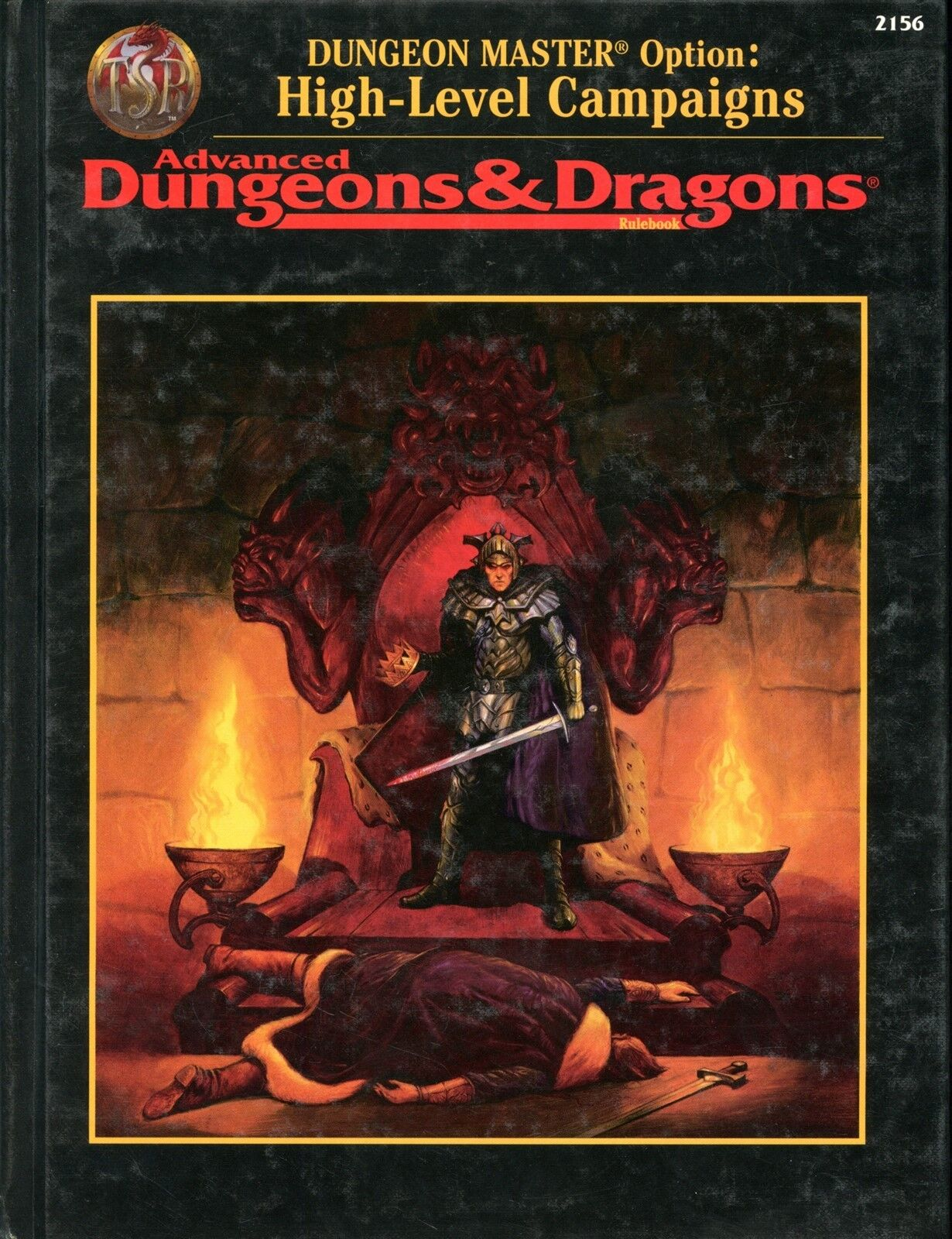 AD&D RULEBOOK DUNGEON MASTER OPTION HIGH LEVEL CAMPAIGNS NM  TSR 2156