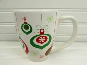 California-Pantry-Mug-Christmas-Red-amp-Green-Ornaments-On-White-b117