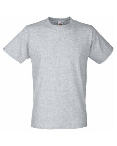 3 x Fruit of the loom tee-shirt Homme Gym Ajusté Slim Fit Plain Tee tshirts Pack de 3