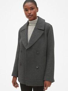 Size M NWT GAP WOMEN PEACOAT,Grey