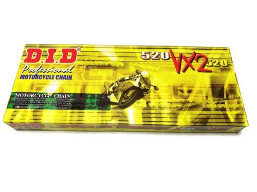 KR Kette D.I.D X-Ringkette 520VX2 114 Glieder verstärkt .. Chain DID 520VX2-114
