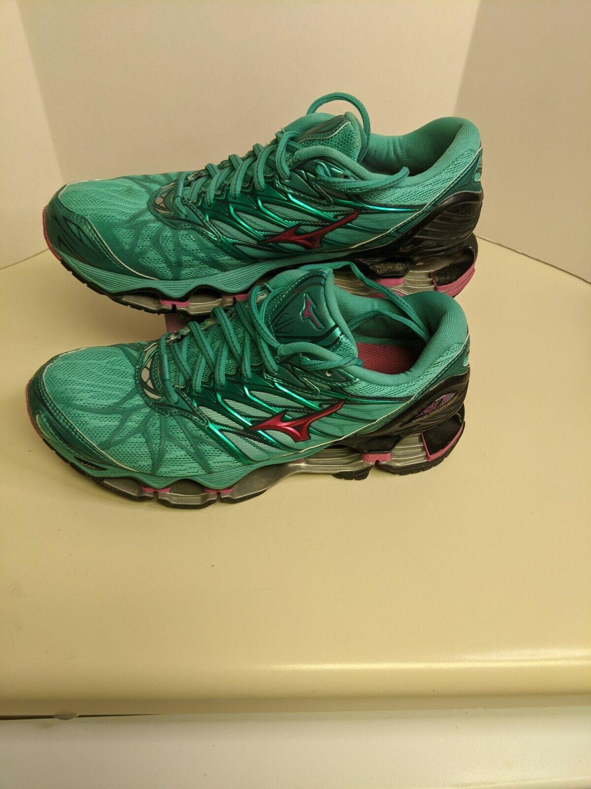 Mizuno Wave Prophecy 7 Running Shoe Men's Size 9.5 Seafoam ... GREAT CONDITION.