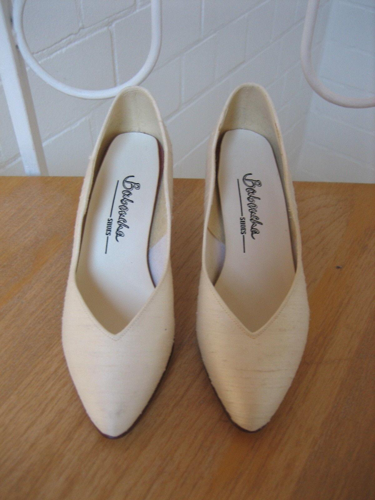Bridal shoes/Wild Silk Shoes Pumps V. baboucha Shoes (Size 36) Cream/Ivory