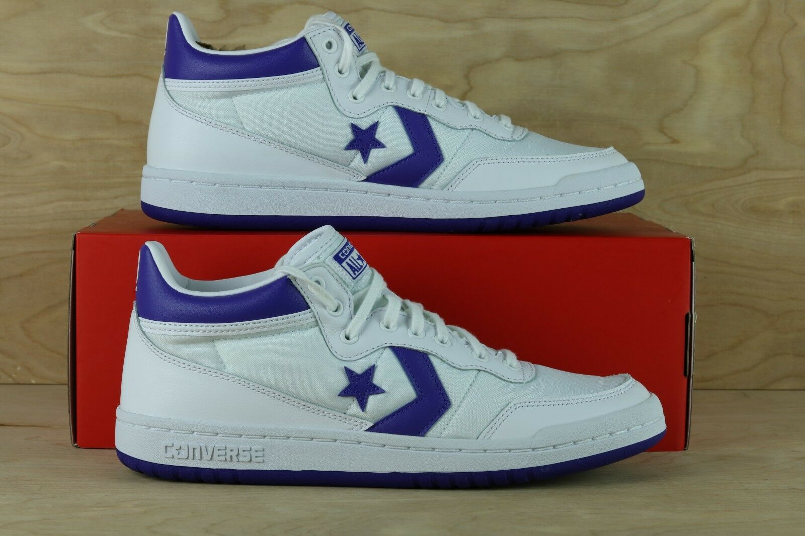 CONVERSE FASTBREAK 83 MID WHITE /CANDY GRAPE Uomo SNEAKERS 156972C [ Multi Size ]