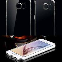 Super Soft Clear TPU Silicone Cover Skin Case For Samsung Galaxy S6 Edge/Plane