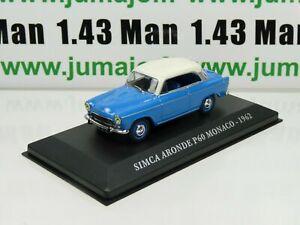 AUT16M-Voiture-1-43-IXO-altaya-Voitures-d-039-autrefois-SIMCA-ARONDE-P60-Monaco-1962