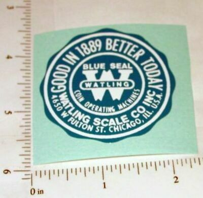 Watling Scale Company Replacement Sticker          V-52
