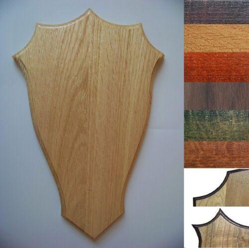 Wooden base shield taxidermy trophy Mounting Plaque OAK  WALNUT 2B