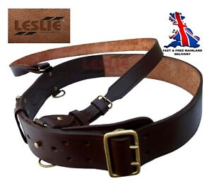Real-Leather-Sam-Browne-Belt-BROWN-Colour-Size-32-Size-50