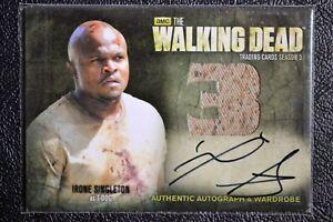 Cryptozoic-Walking-Dead-Season-3-AM4-T-Dog-VARIANT-Dual-Wardrobe-Trading-Card