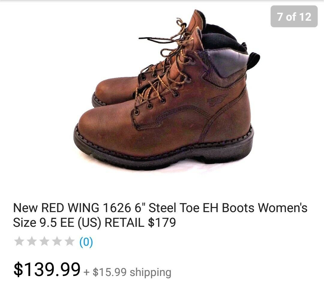 Red Wing steel toe women boots