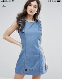 QED-London-Frill-Sleeve-Dress-Size-M