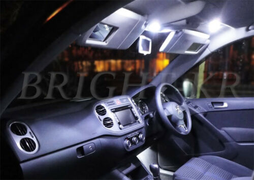 INTERIOR XENON WHITE UPGRADE LED LIGHT BULBS SET VW VOLKSWAGEN PASSAT B7 2010