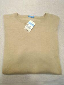 J-McLaughlin-Cotton-Blend-Nathan-Lightweight-Crewneck-Sweater-NWT-XL-145-Tan