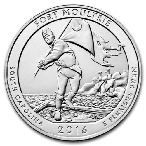 SC 2016 5 oz Silver ATB Fort Moultrie National Monument