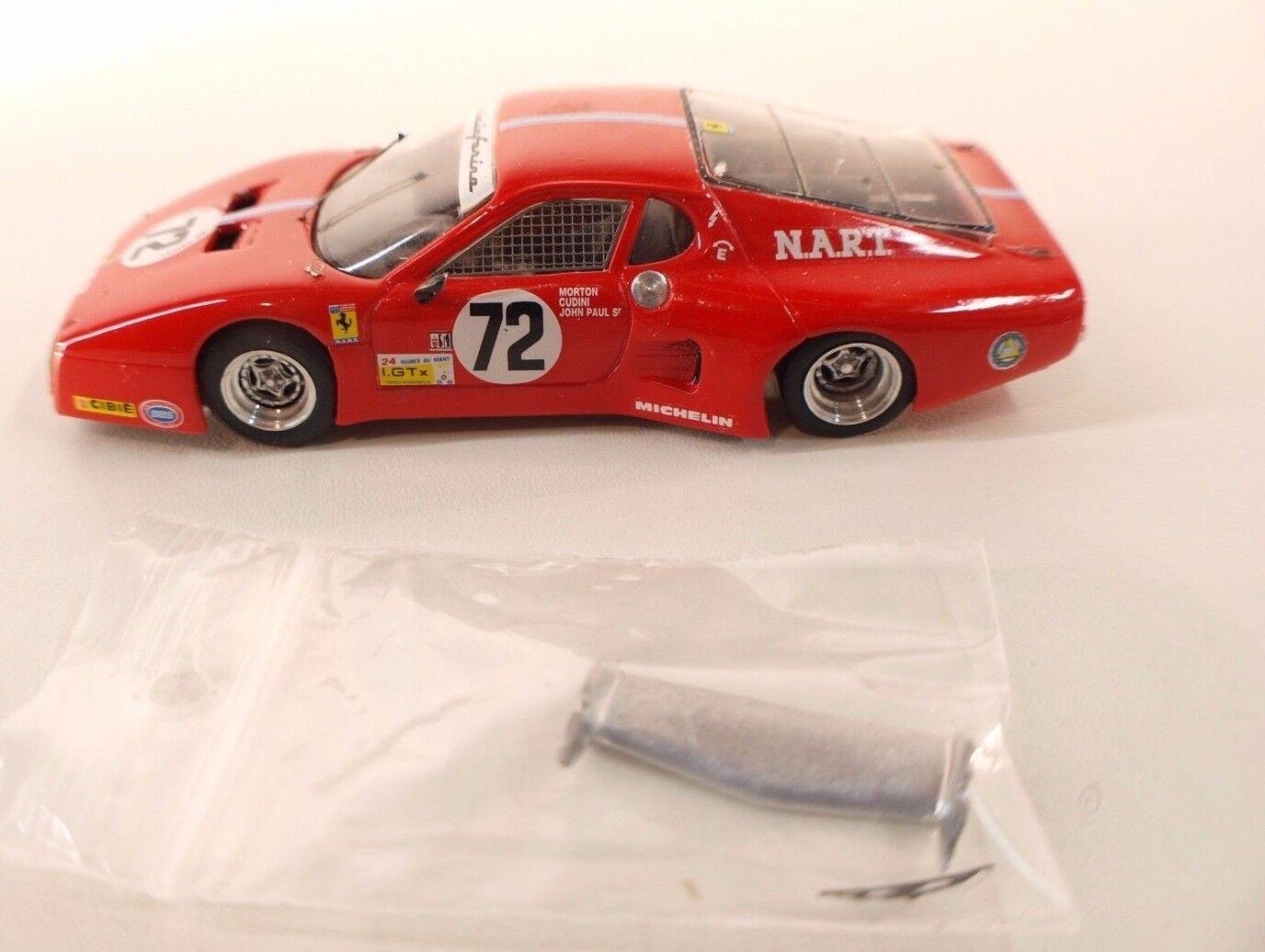 Meri Kit Italie n°14 Ferrari 512 BB Le Mans 1982 Morton Cudini Kit monté 1 43