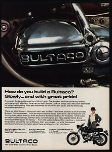 Image Is Loading 1967 BULTACO LOBITO 100cc Motorcycle VINTAGE AD