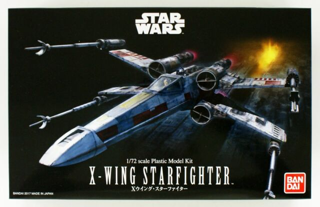 Bandai Star Wars 1/72 X-Wing Starfighter Plastic Model