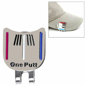 1pc-MAGNETIC-HAT-CLIP-with-034-One-Putt-034-GOLF-BALL-MARKER-New-Super