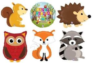 3b4225a5b1d121 WOODLAND CRITTERS RANGE OF 5 LARGE ANIMALS FOIL BALLOONS FOREST ...