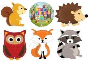 woodland critters animals forest balloons foil wildlife range farm