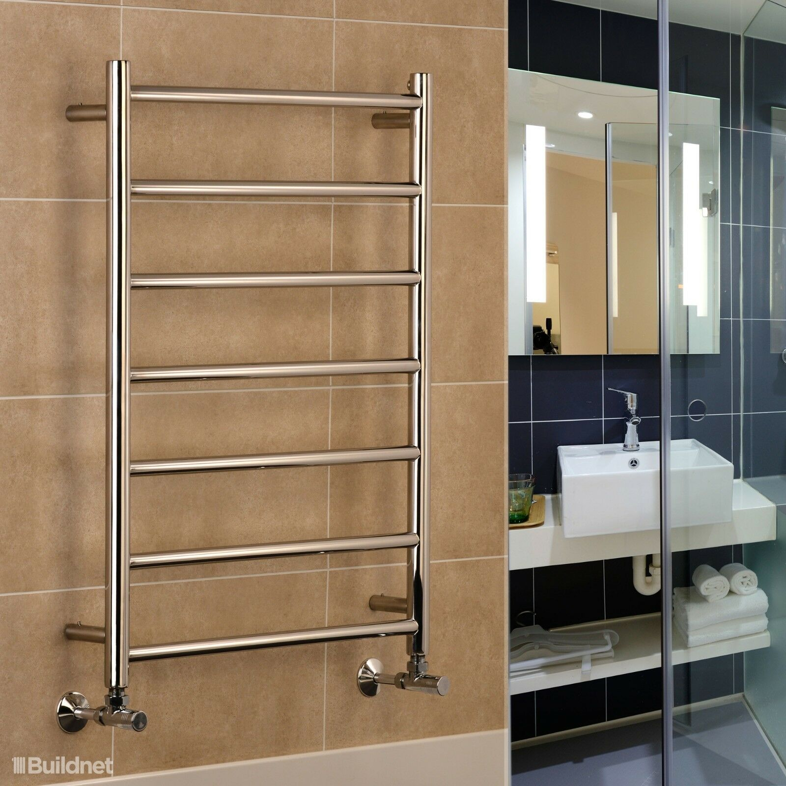 Davos Electric Stainless Steel Towel Rails Widths  500mm 600mm