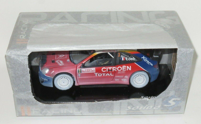 1 18 CITROEN XSARA WRC RALLY MONTE CARLO 2004 S. Loeb con effetto neve