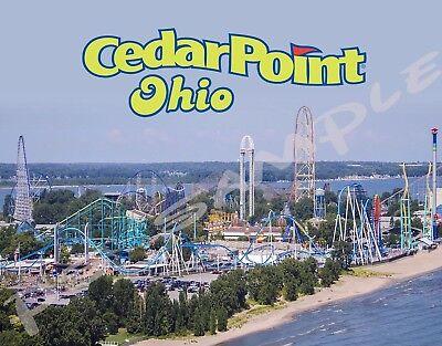 Ohio CEDAR POINT Travel Souvenir Flexible Fridge Magnet