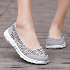 Women-039-s-Sneakers-Casual-Walking-Flats-Shoes-Breathable-Slip-on-Extra-Depth-Shoe