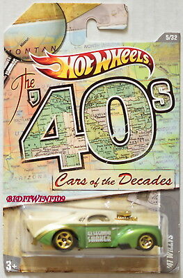 Auto- & Verkehrsmodelle Offizielle Website Hot Wheels The '40's Cars Of The Decades '41 Willys Grün Gute QualitäT