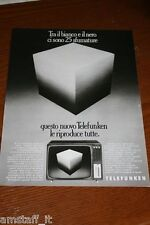 BH14=1972=TELEFUNKEN TV TELEVISORE TELEVISIONE=PUBBLICITA'=ADVERTISING=WERBUNG=