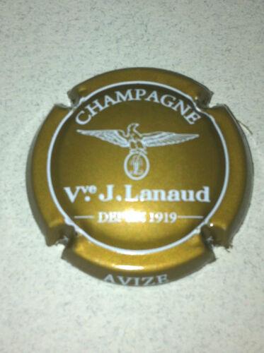 10k. bistre et blanc Capsule de Champagne LANAUD J.
