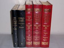 Easton Press RISE & FALL OF THE THIRD REICH, THIS IS BERLIN, DIARY 5 vols Shirer