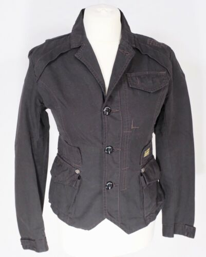 Singlet Denim 10 Jacket Slim Fitted Military Coat G Stretch 8 Raw Star Black Fit Uw060H