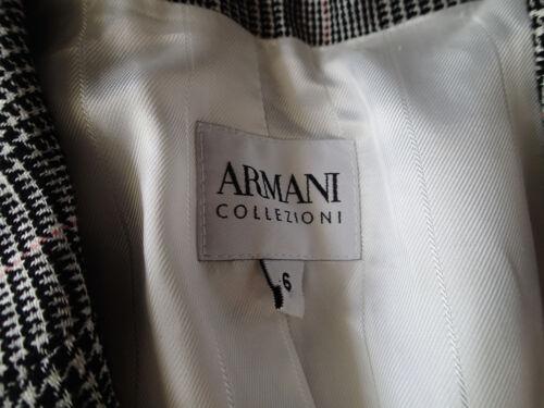 Collezion Armani Plaid giacca Wool 42 Giorgio Tweed lino Blazer Sz R 6 misto 5dPqfw