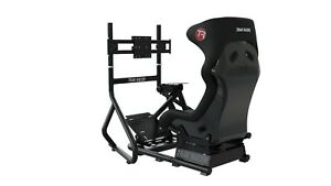 RS6 Trak Racer Racing Gaming Simulator Seat & Single Screen...