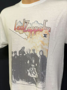 Details about Led Zeppelin II T Shirt New Vintage Style Classic Rock Band  Album Cover