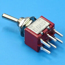 Dpdt Mini Toggle Switch On On Pcb Mount Premium Quality Usa Stock