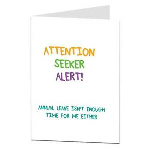 Get Well Soon Card Funny Sarcastic Friend Work Colleague After
