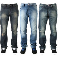 MENS DESIGNER BRANDED JUDGE & JURY FLY BUTTONED MULTIPOCKETS JEANS IN 3 COLOURS