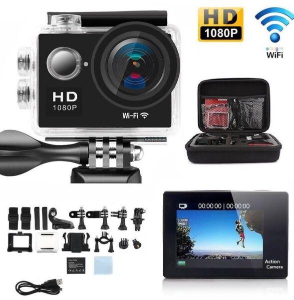 1080p Hd Sports Camera Wifi Mini Dv Carry Case Bundle Action Caméscope Sj4000-i Sensation Confortable