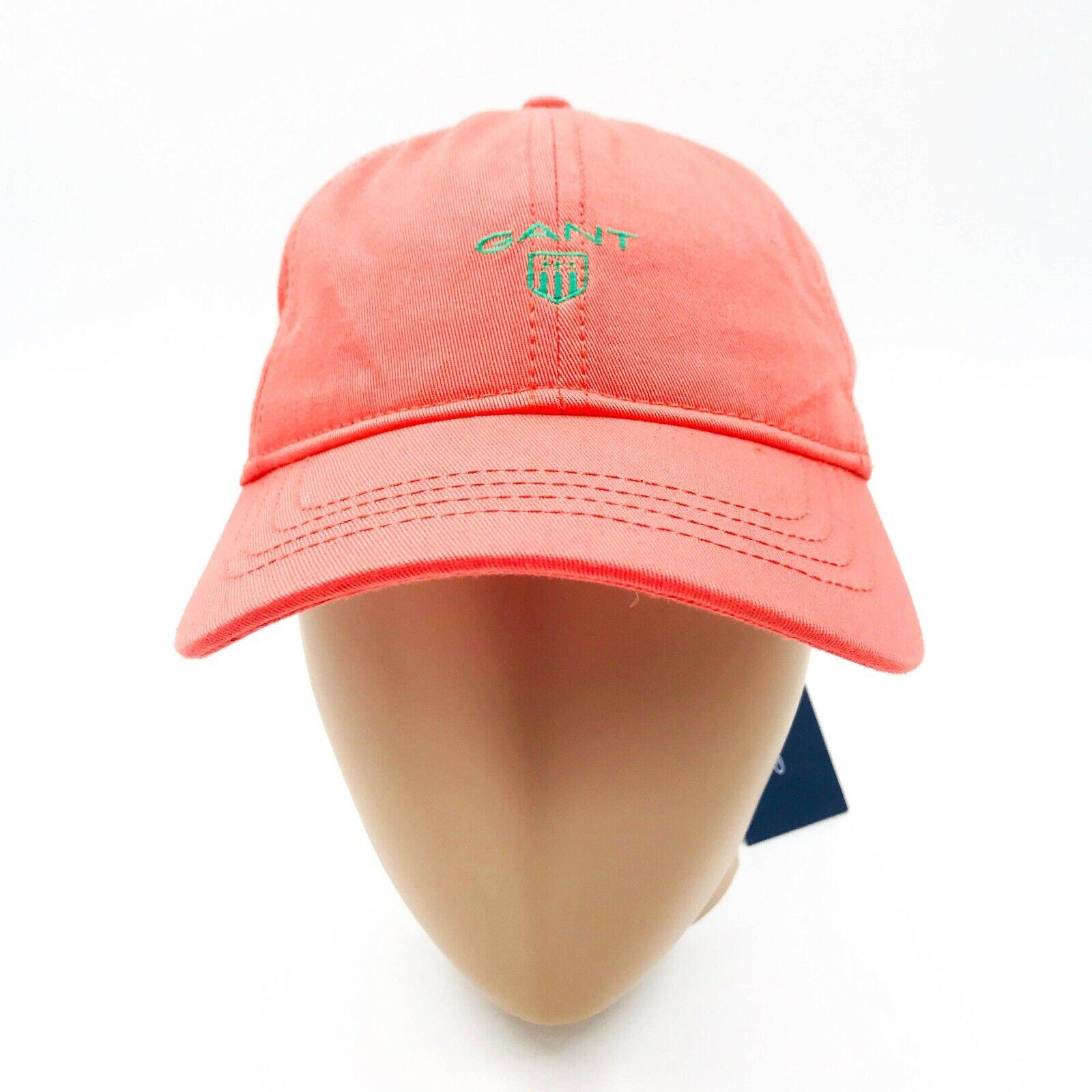 GANT Orange Rot Kontrast Twill Baseball Kappe Hut Einheitsgröße