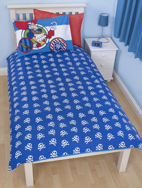 JAKE AND NEVER LAND PIRATES PIRATES PIRATES DOUBLOONS SINGLE DUVET COVER AND PILLOWCASE SET KIDS c9fff4
