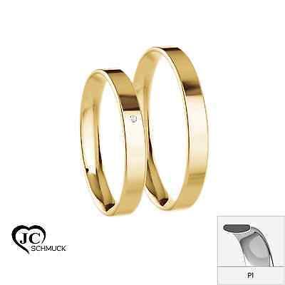 Gold Trauringe 333 Gold Verlobungsringe in 8 Karat Eheringe aus Gold SONDERPREIS